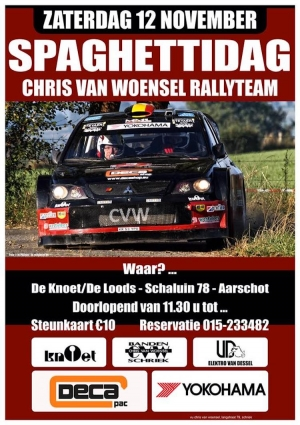 Uitnodiging spaghettidag Chris Van Woensel
