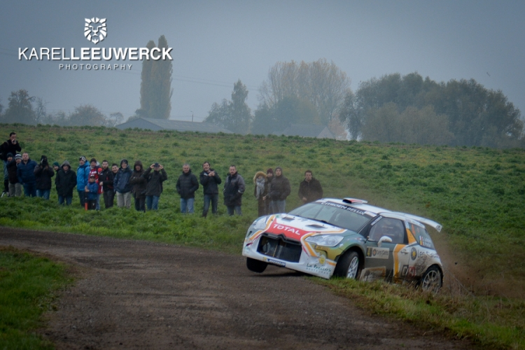 Stéphane Lefebvre stuurt de DS3 R5 van J-Motorsport naar P2 in Hoei