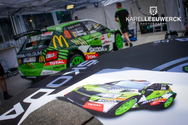 Sébastien Bedoret aan de start van de Deutschland Rally