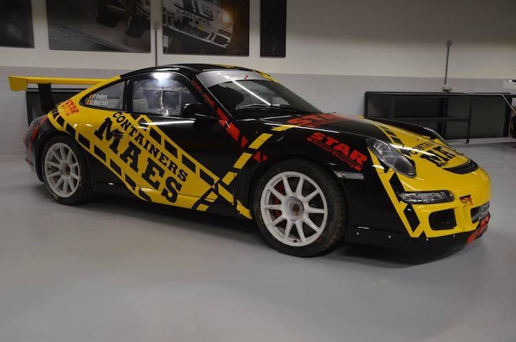 Patrick Snijers in het BRC met een Porsche 997 GT3
