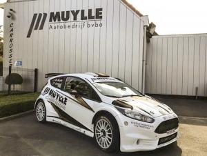 Wouter Muylle met Ford Fiesta R5 als veiligheidswagen in Roeselare
