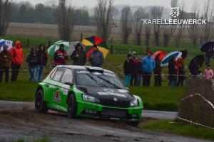 Vincent Verschueren net naast het podium in TAC Rally Tielt