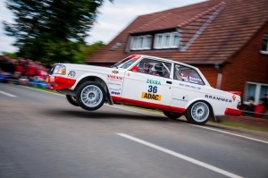 Christophe Panis met Volvo 240 Turbo in Aarova Rallysprint