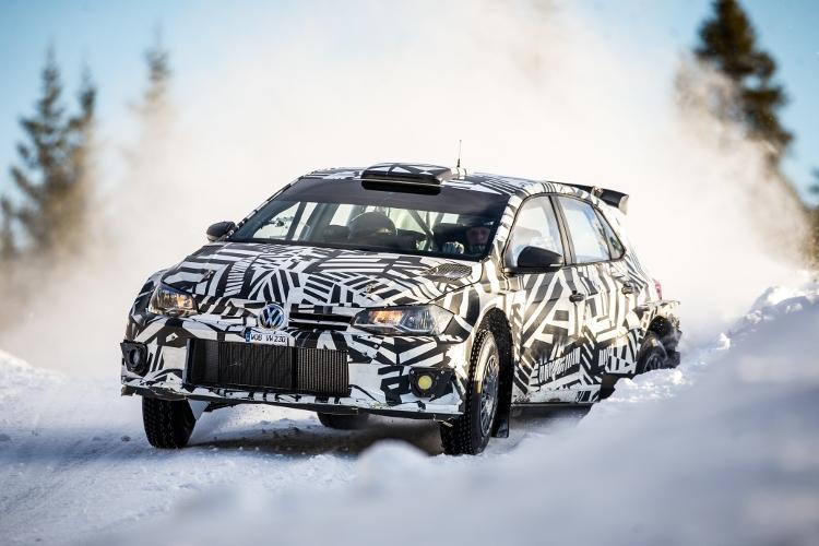 Solberg, Grönholm en Tidemand testen de VW Polo GTI R5