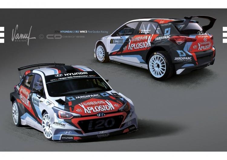 Francois Duval met Hyundai i20 R5 van First in Condroz Rally!