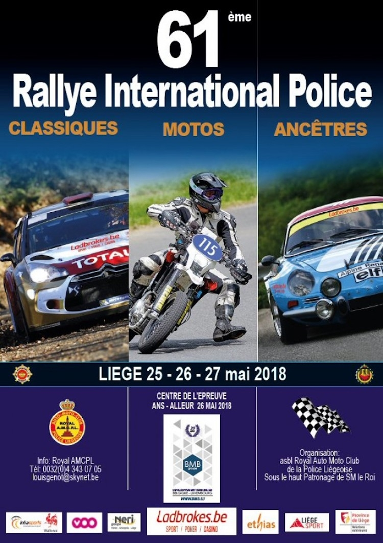 Alles is klaar voor de Rallye International Police 2018