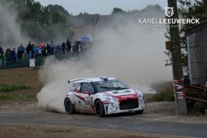 J-Motorsport in Hoei met een DS3 R5 voor Lefebvre en Bergkvist