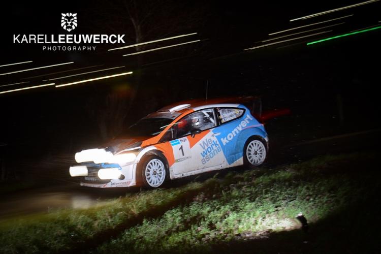Didier Duquesne met Skoda Fabia R5 in Kenotek Ypres Rally