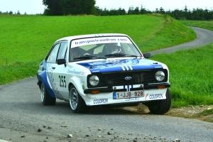 Rik Vannieuwenhuyse scoort in de Ford Pinto Cup tijdens de Rallye de la Semois