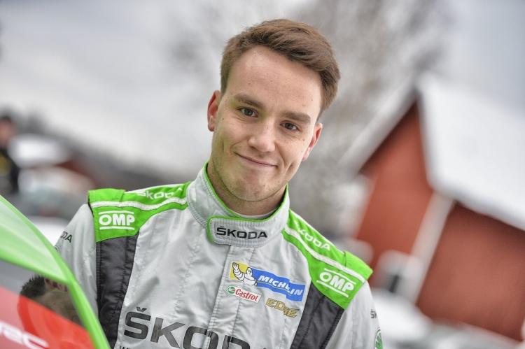 Renties Ypres Rally: Ole Christian Veiby met een Skoda aan de start