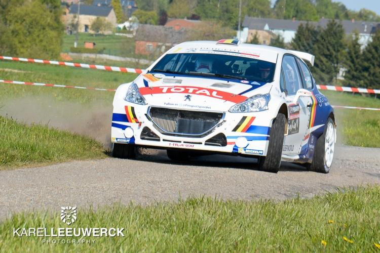 Eindelijk raak voor Kevin Abbring in Rallye de Wallonie