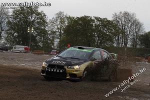 Pech voor Antoine van Ballegooijen in Rallye de Wallonie