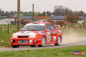 ED Rallyteam met Steve Brown en Wouter Muylle aan de start in Tielt