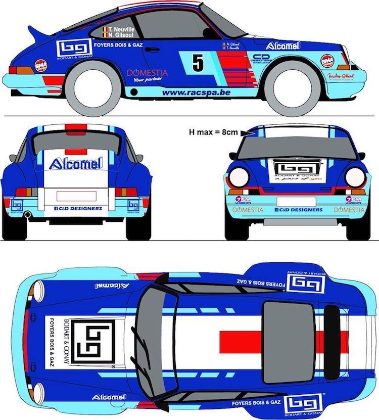 Legend Boucles Bastogne: Decoratie Porsche 911 Thierry Neuville