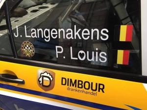 Jonas Langenakens start in de Rallysprint van Haillot