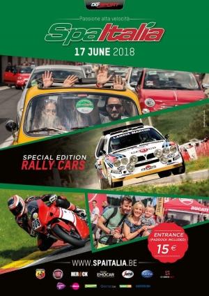 Rallywagens op het voorplan tijdens SpaItalia