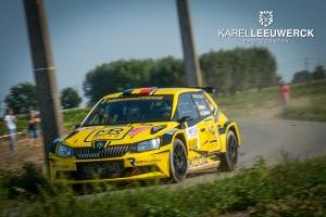 Jean-Baptiste Broekaert met een Fabia R5 in Aarova Rallysprint