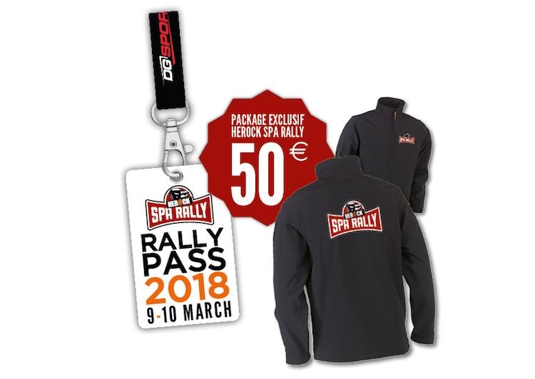Uitzonderlijke voorverkoop voor de Herock Spa Rally 2018
