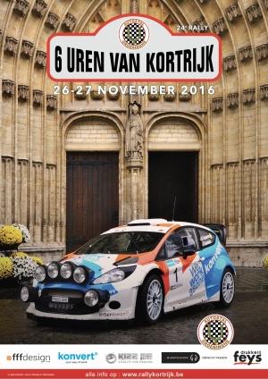 24ste editie 6 uren van Kortrijk op 26 en 27 november 2016
