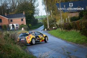Guillaume de Mévius en Louis Louka met een WRC2 aan de start van de Monte-Carlo