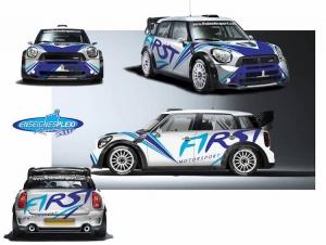 Patrick Snijers in de Rallysprint van de Monteberg met een Mini JWC WRC