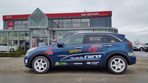 Electric Motorsport Team als veiligheidswagen in Rallysprint Moorslede