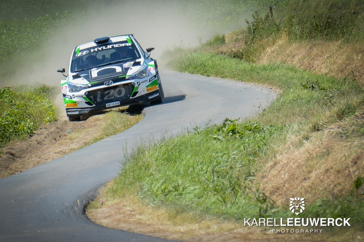 Guillaume Dilley wint secondenstrijd in Rally van Wervik