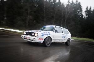 Xavier Daffe met VW Golf 2 GTI 16v in de Legend Boucles