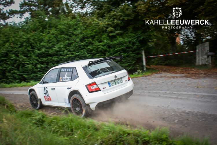 Vincent Verschueren van start tot finish in Rally van Staden