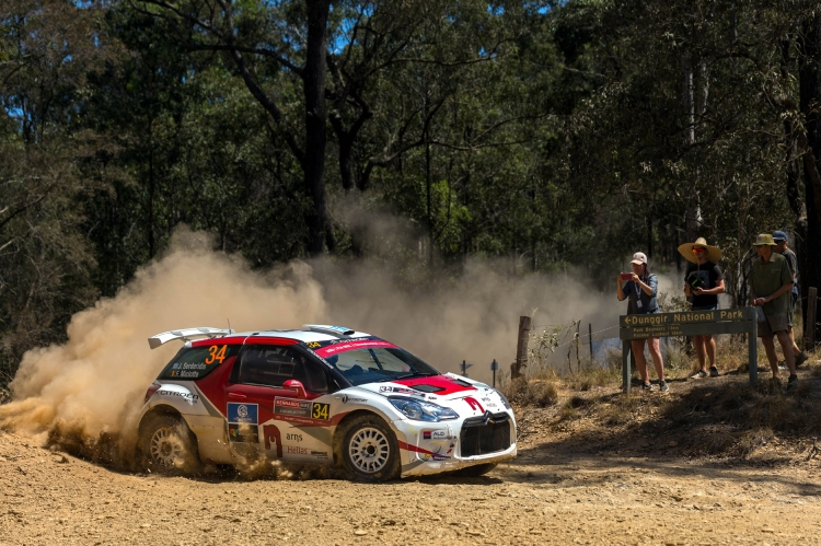 J-Motorsport aan de finish in de Rally van Australië