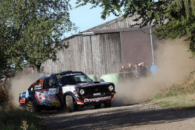 Robert Droogmans aan de start van de Rally de Wallonie
