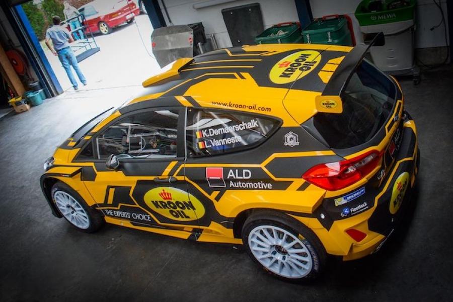 Kevin Demaerschalk in Omloop van Vlaanderen met Ford Fiesta R5 ...