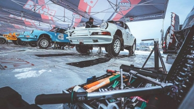 De acht teams van BMA aan de finish van de Romania Historic Winter Rally