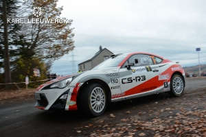 Polle Geusens met Toyota GT86 in Condroz Rally